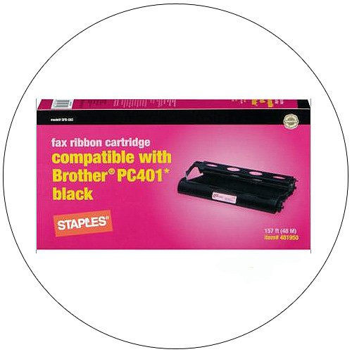 Brother Black Fax Ribbon Cartridge for PC 401 - No. SFB-55C