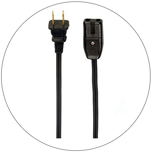 Replacement Universal Small Appliance Heater Cord - 2 Ft.