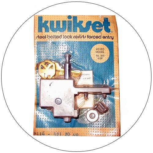 Kwikset Keyed Sliding Patio Door Lock - No. 320 KSP