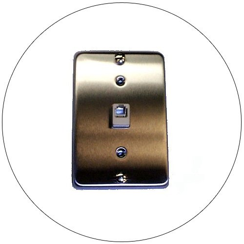 Telephone Wall Bracket - Type 630A Quick-Connect Terminals - Stainless Steel