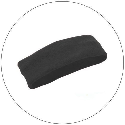 Soft Stretchable Chill Fleece Headband / Earband - Color: Black