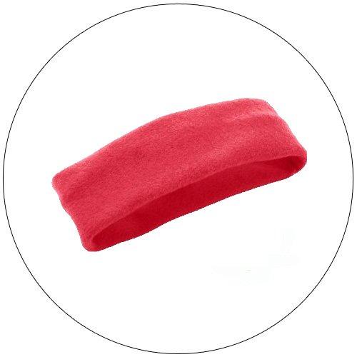 Soft Stretchable Chill Fleece Headband / Earband - Color: Red