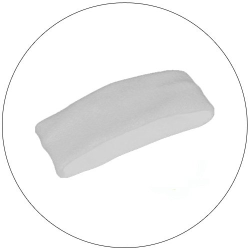 Soft Stretchable Chill Fleece Headband / Earband - Color: White
