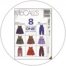 McCall's No. 7831 Sewing Pattern - Toddlers' Jumper and Jumpsuit - Size 1-2-3
