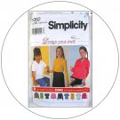 Simplicity No. 9362 Sewing Pattern - Child's & Girl's Knit Tops - Size 7,8,10,12,14