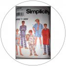 Simplicity No. 8968 Sewing Pattern - Teen Boy's Pajamas, Robe & Tie Belt - Size 7,8,10