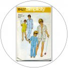 Simplicity No. 6427 Vintage Sewing Pattern - Teen-Boy's Pajamas - Size 4