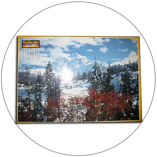 """Kodacolor Puzzle - 1,000 Pieces - """"Winter at Mount Shuksan"""". (New - Factory Sealed)"""