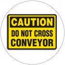 "Caution Do Not Cross Conveyor Sign Self-Adhesive Label Sign - 7""H x 10""W - EMEDCO No. 40420GGHTED3W"