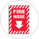 "Fire Hose Self-Adhesive Sign w/ Foam Self-Adhesive Backing - 10""H x 7""W - No. 15148"