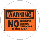 "Warning No Smoking Sign. Self-Adhesive Vinyl. 7"" x 10"". Grainger No. 8DVC8"