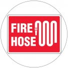 "Fire Hose Safety Sign Durable Plastic Sign - 7""H x 10""W - EMEDCO No. 33571GGHTEDRFM"
