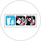 "Class A Fire Extinguisher Symbols Self-Adhesive Label - 2""H x 5""W - EMEDCO No. RCM7"