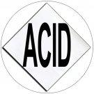 "Chemical Hazard Panel Characters Self-Adhesive Label - ACID - 5 1/2"" x 5 1/2"" - EMEDCO No. DCI4-ACID"