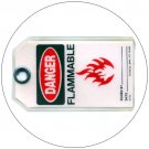 "Danger Flammable Plastic Duro-Tag - 5 1/2""H x 3 1/4""W - EMEDCO No. DT41"