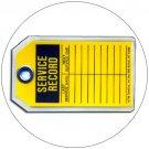 """Service Record Plastic Duro-Tag - 5 1/2""""H x 3 1/4""""W - EMEDCO No. DT36"""