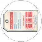 "Chemical Hazard Plastic Duro-Tag - 5 1/2""H x 3 1/4""W - Emedco No. NFPA-53TG"