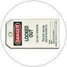 """Danger Locked Out Plastic Duro-Tag - 5 1/2""""H x 3 1/4""""W - EMEDCO No. DT41"""