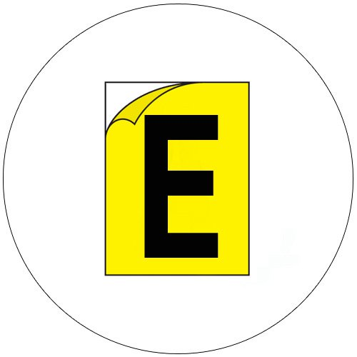 Durable Industrial Letters - Emedco No. CFC20-YL-E  (New In Stock)