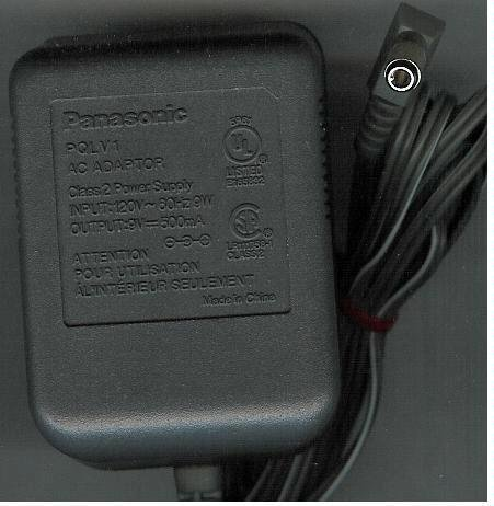 Panasonic Cordless Phone AC Power Supply Adapter No. PQLV1 (Refurbished)