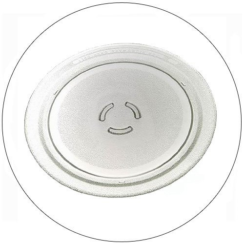 "Ikea / Inglis Microwave Glass Cook Tray - 12"" Dia - Part No. 4393799  - (Refurbished - Like New)"