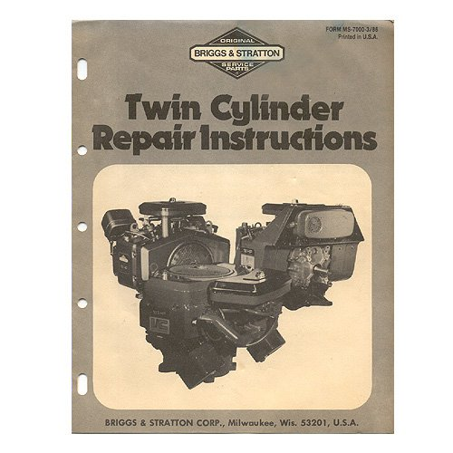 Original Briggs and Stratton Twin Cylinder Repair Instructions - MS-7000-3/86 (Vintage Collectible)