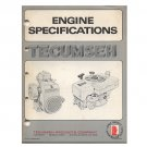 Original Tecumseh Engine Specifications 692531-R9/77 (Vintage Collectible)