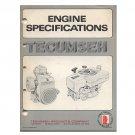 Original Tecumseh Engine Specifications 692531-R9/77 (Vintage Collectible)