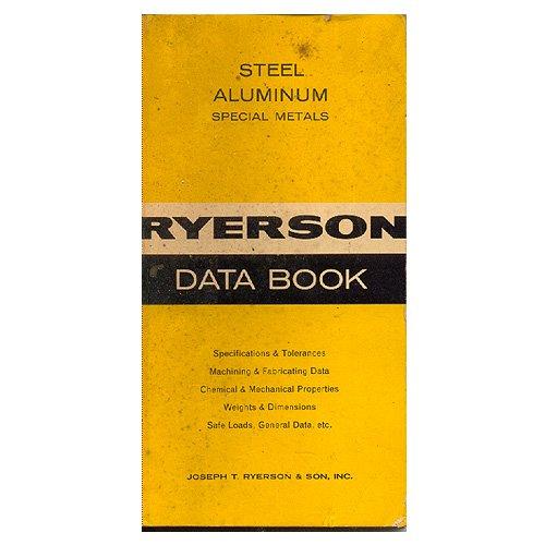 Original Ryerson Data Book - 1967 (Vintage Collectible - Very Good Condition)