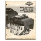 Original Briggs and Stratton Model 95700 / 96700 2 Cycle Engine Service & Repair - MS-9640