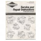 Original Briggs and Stratton Service & Repair Instructions for Single Cylinder 4-Cycle - MS-4750