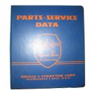 Original Briggs and Stratton Service Manual Parts & Service Data - 1964 (Vintage Collectible)