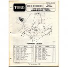 Original Toro 8 & 12 H.P Professional Rear Engine Riders - Electric - Parts Catalog - 3313-910