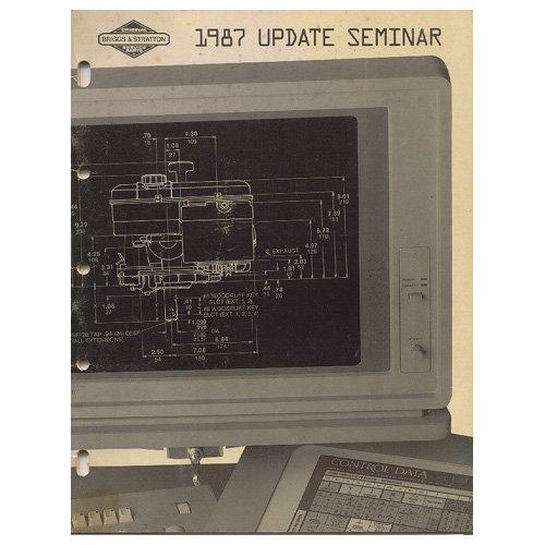 Original 1987 Briggs and Stratton Service Update Seminar Manual - Form MS-9152-12/86