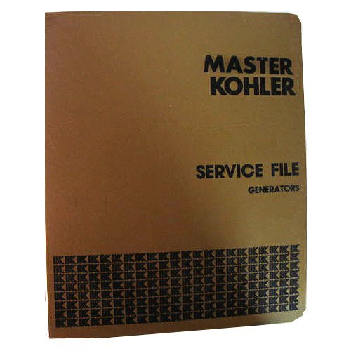 Original Kohler Master Set Service File Binder 4 - Generators, Circa '70's (Vintage Collectible)