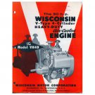 Original Wisconsin Engines Promotional Brochure 30 HP V Engines No. S-298 (Vintage Collectible)