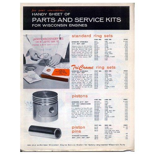 Original Wisconsin Engines Promotional Brochure Handy Sheet No. S-327 (Vintage Collectible)