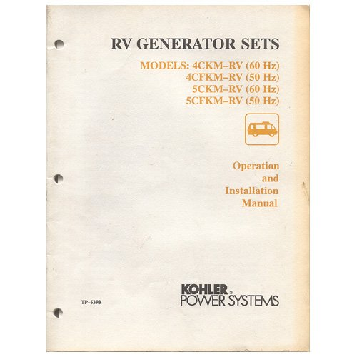 Original 1991 Kohler RV Generator Sets Operation & Installation Manual No. TP-5353 2/91