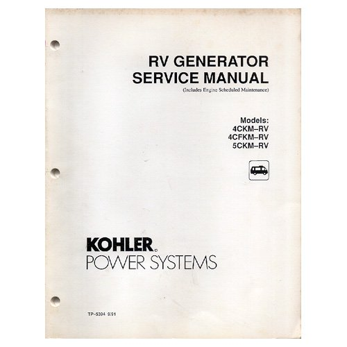 Original 1991 Systems RV Generator Service Manual No. TP-5394 9/91