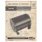 Original 1980's Pincor Products Owner's Guide & Parts List Dual Bearing Alternators No. 21893-000