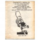 "Original 1984 Rally Owner's Manual 22"" Lawn Mower Model No. B110BR Manual Part No. 103726X 12/84"