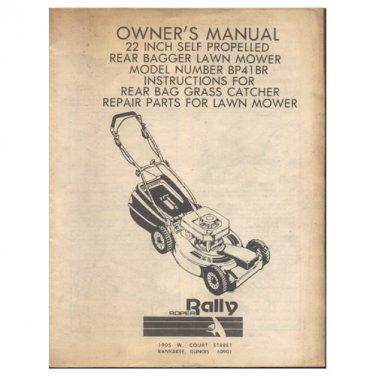 rally lawn mower parts manual