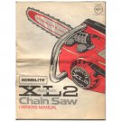 Original 1970-1980's Homelite Owner's Manual For XL2 Automatic Chainsaw - Manual Part No. 24751