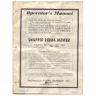 Original 1974 Snapper Riding Mower Operators Manual - Manual No. 1-2064