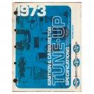 Original 1973 Standard Motor Ignition & Carburetor Tune-Up Specifications Chart - Form No. AF 640-13