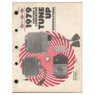 Original 1979 Standard Motor Ignition & Carburetor Tune-Up Specifications Form No. AF 640-19-178200