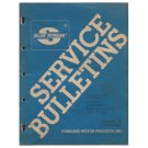 Original 1980 Series  Volume 3 Standard Motor Service Bulletins - Form No. AF 4019