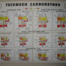 Original Circa 1980's Tecumseh Promotional Service Chart Form No. 693504 (Vintage Collectible)