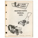 Original 1978 Lawn Chief Master Parts Manual Rotary & Riding Mowers (Vintage Collectible)