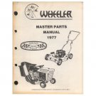 "Original 1977 Wheeler Parts Manual 19""- 32"" Mowers & Tillers (Vintage Collectible)"